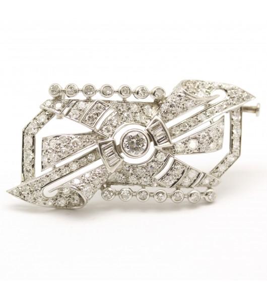 Broche Art-Déco Diamants
