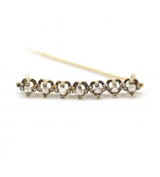 Broche Barette Diamants