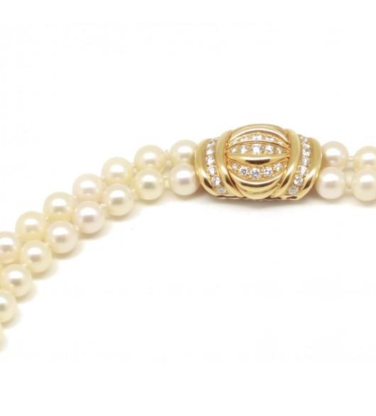 Sautoir double rang - Perles de Culture
