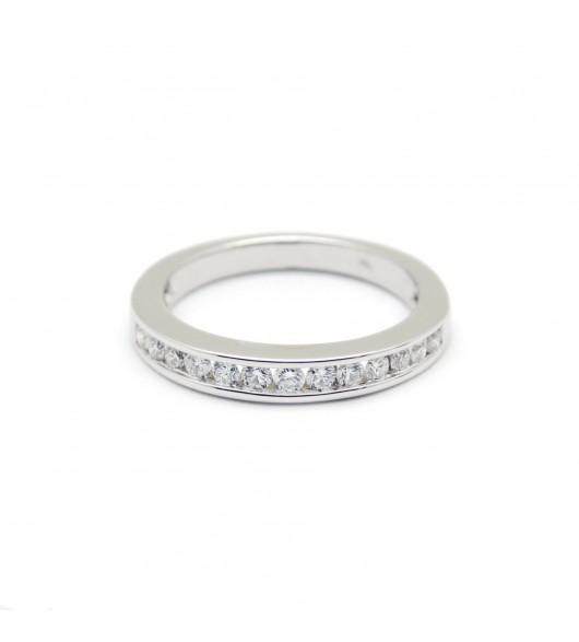 Demi-Alliance - 0,65 carat de diamants