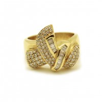Imposante bague - Or et diamants