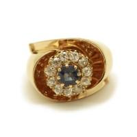 Bague Or - Saphir et diamants