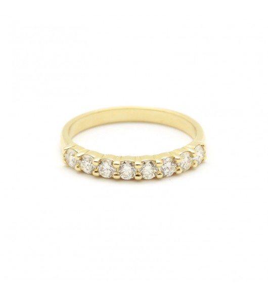 Demi alliance - 0,80 carat de diamants