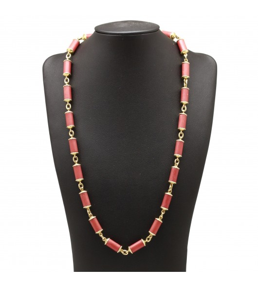 Collier or et corail