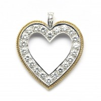 Pendentif coeur 2 ors