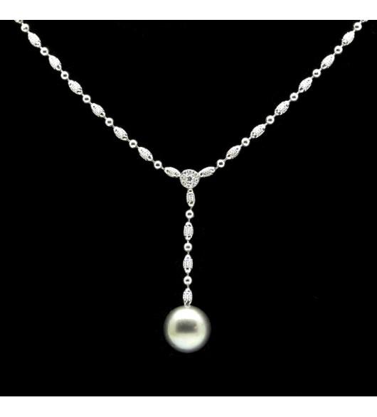 Collier perles et diamants