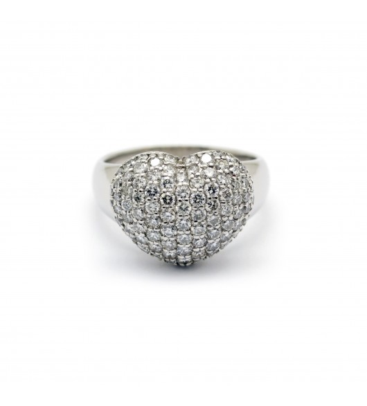 Bague coeur en diamants