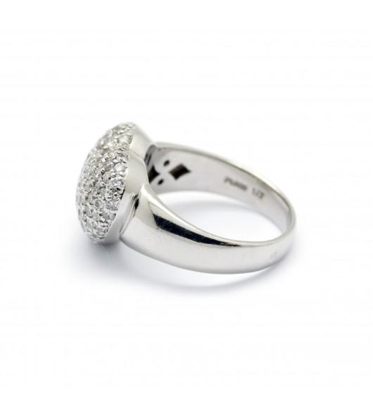 Bague coeur en diamants