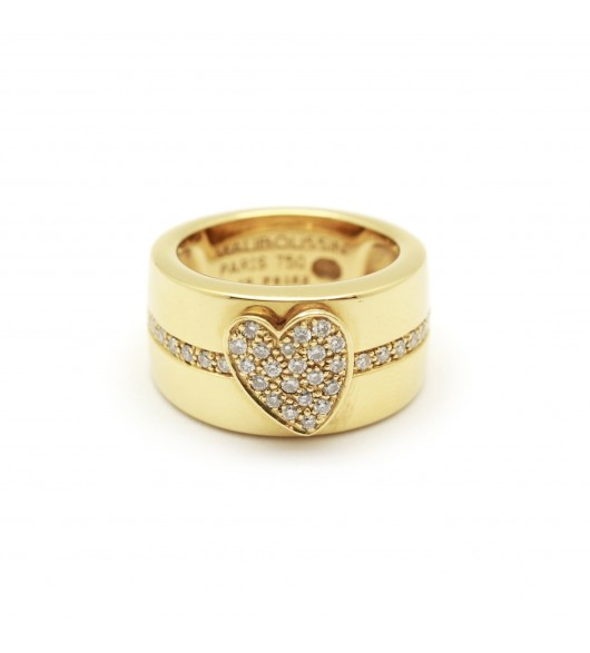 Bague Mauboussin or et diamants