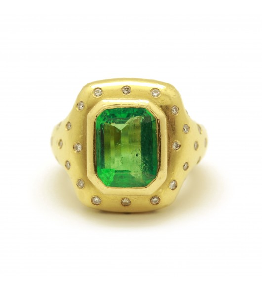 Bague Emeraude de Colombie