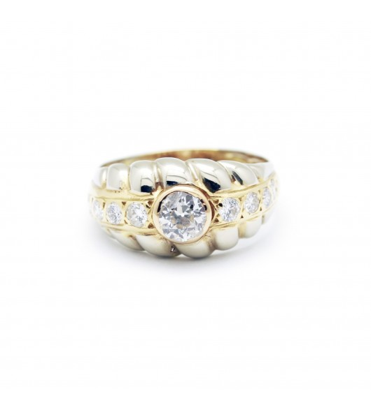 Bague or et diamants