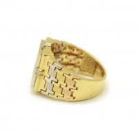 Chevalière or et diamants