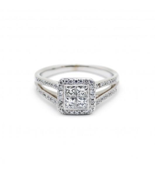 Bague pavée - Or et diamants