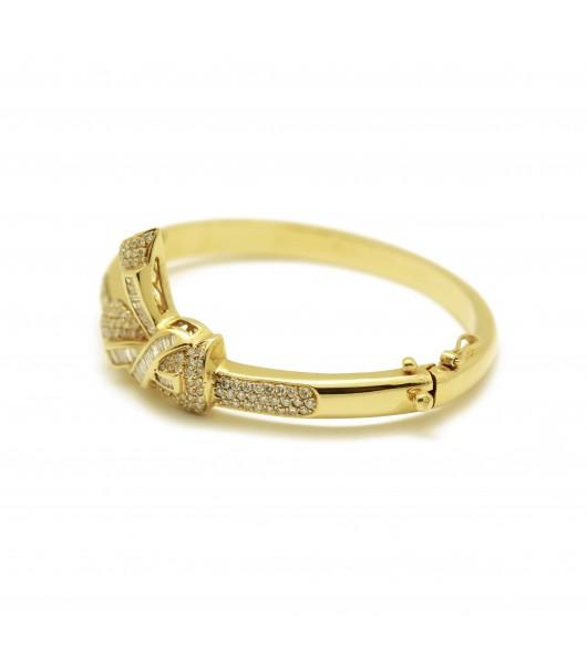 Bracelet rigide Or - diamants