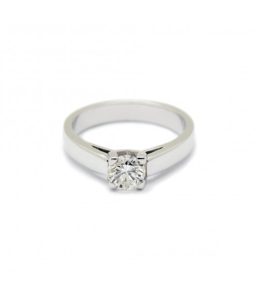 Solitaire Or - Diamant de 0,49 carat