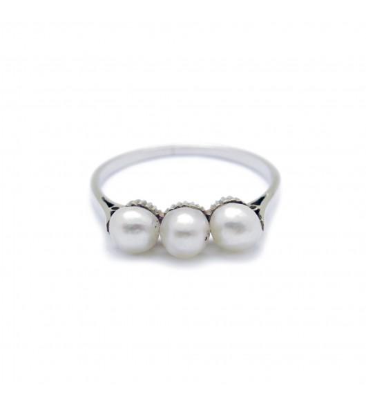 Bague Or - perles
