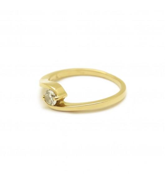 Solitaire - Diamant de 0,19 carat environ