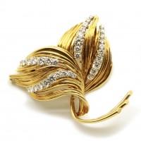 Broche année 60 - Or et diamants