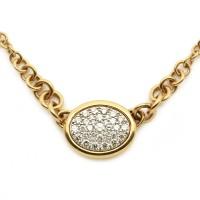 Collier pavée de 35 diamants - Or