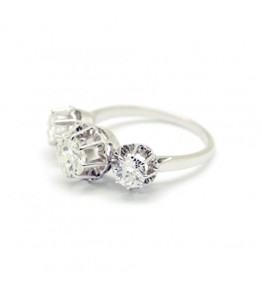 Bague Trilogy Or - diamants