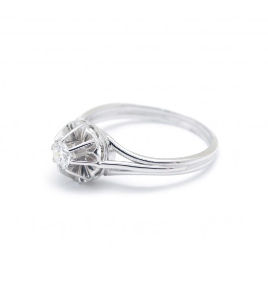 Solitaire - Diamant de 0,16 carat