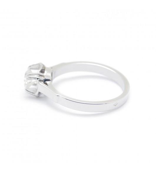 Solitaire art-déco - Diamant TA 0,47 carat