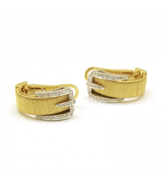 ramasser en stock meilleurs tissus Boucles d'oreilles - Or et diamants