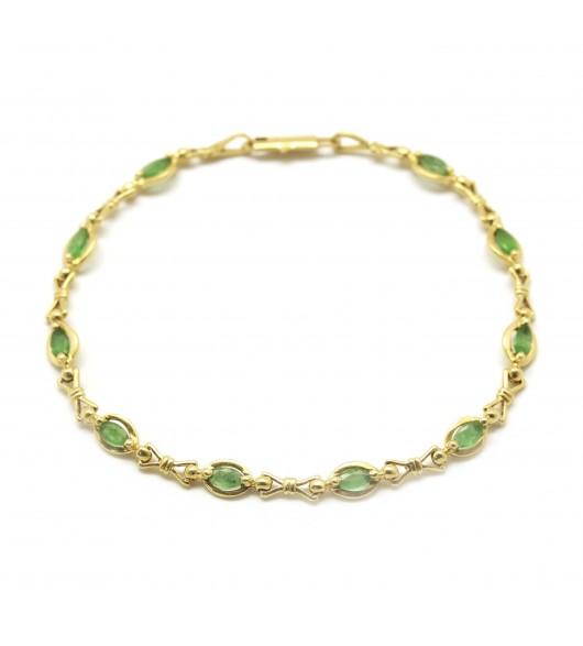 Bracelet - Or et émeraudes