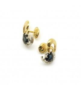 Boucles d'oreilles - Saphirs et diamants