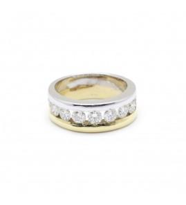 Demi alliance - 1,20 carats de diamants