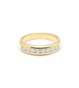 Demi alliance - 0,64 carat de diamants.