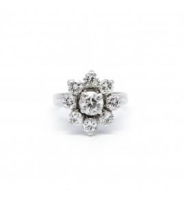 Bague Marguerite - Or et diamants