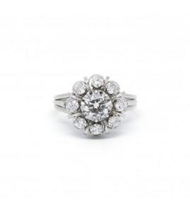 Bague - Or, Platine Et Diamants