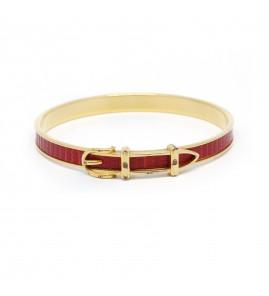 Bracelet HERMÈS - Plaqué Or et cuir