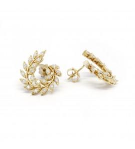 Boucles d'oreilles - Or et diamants